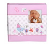 Baby insteek-album Moments Roze